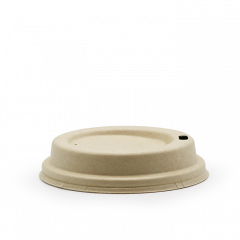 Bagasse-låg til 8 oz kopper, Ø80mm, neutral,. 50 Stk/pk