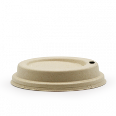 Bagasse-låg til 12-16 oz kopper, Ø90mm, neutral,. 50 Stk/pk