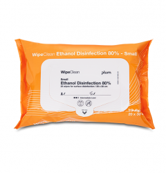 Plum Ethanol Disinfection wipe, Desinfektion small 30x20 cm, 25 stk/pk
