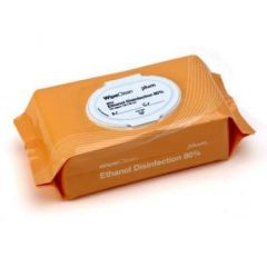 Desinfektion serviet PLUM Ethanol Disinfection wipe mini 20x20 cm 100 stk orange